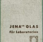 CATALOG Schott & Gen. 'JENAer GLAS für Laboratorien' (Jena glass for laboratories) 1937