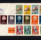 COVER United Nations 'UNTEA overprint stamps' 1963