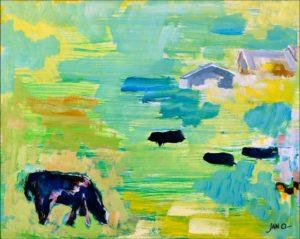 Jan Oosterman 'De koe staat in de wei' 1991