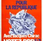 Poster RPR 'Votez Jacques Chirac' 1976