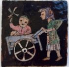 Harm Henrick Kamerlingh Onnes 'Woman, Child and Handcart' 1957