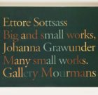CATALOG Sottsass/ Grawunder 'Big and small works/ Many small works' 1995