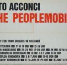 POSTER Vito Acconci 'The Peoplemobile' 1979