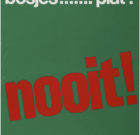 POSTER 'de scheveningse bosjes…plat? nooit!' 1970